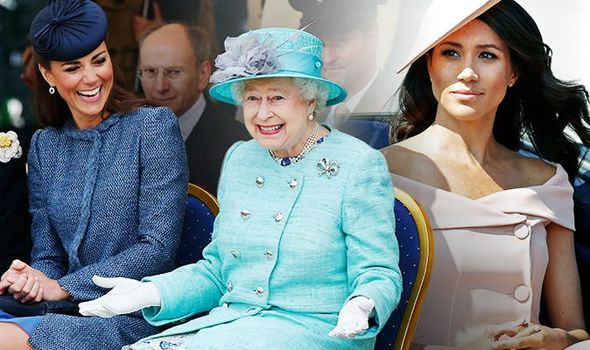 The Queen, Meghan Markle and Kate Middleton