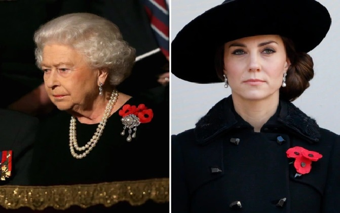 the Queen has given Kate access to the prized Royal Collection in order to show that 'maintaining the correct order and precedence within the family is important'