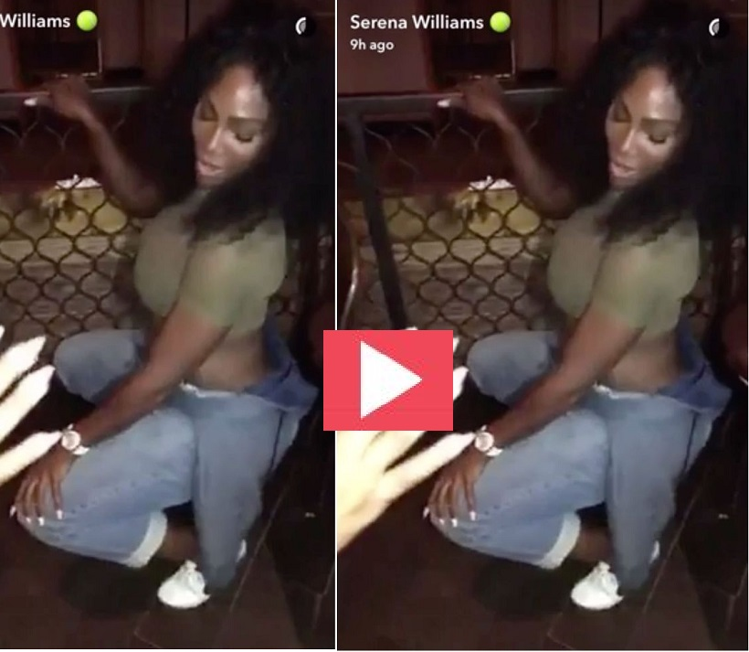 Serena Williams skillful dance